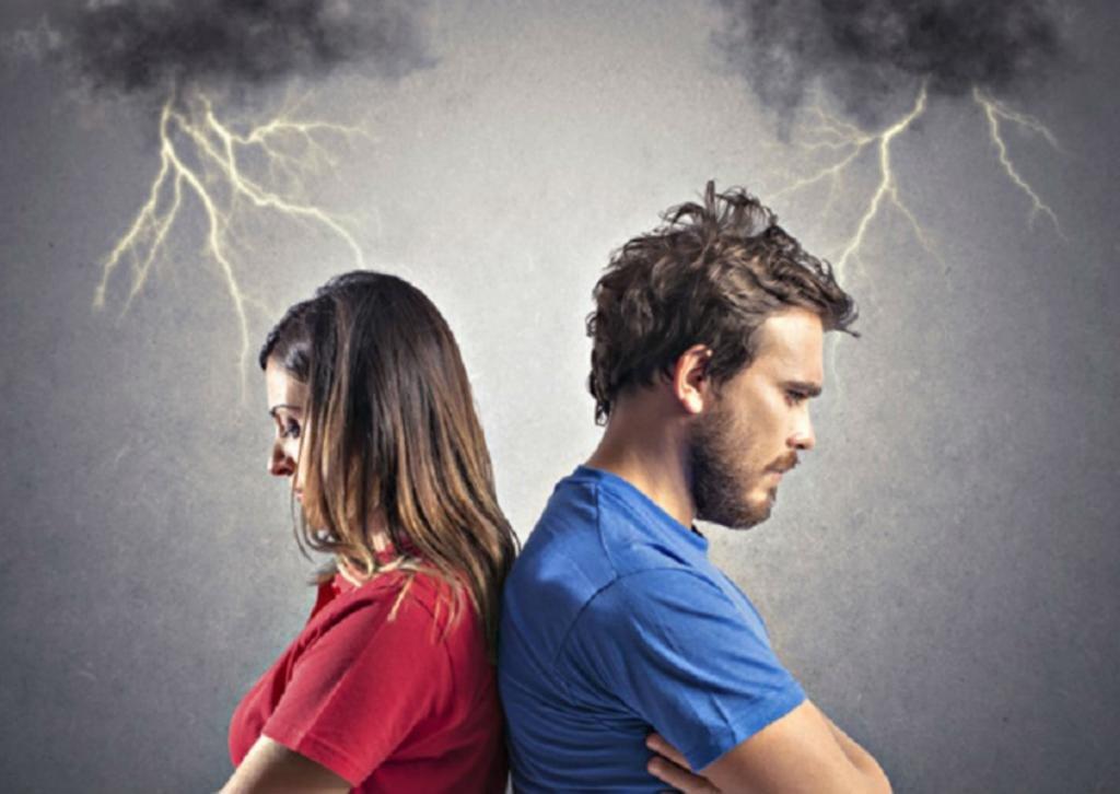 Напряжение между супругами.